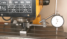 Checking milling machine spindle alignment, Tramming