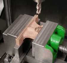 "Milling Head, Lathe mounted, using. Parts for horizontal steam engine ""Tina"""