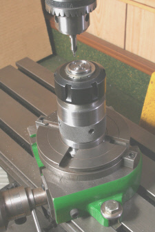 Rotary Table , fitted with collet chuck