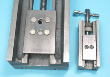 Toolmakers vices, large and small, longer jaw keep plates added