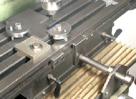 Milling machine stops, Y axis, X axis