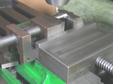 Vice in vice workholding on the milling machine.