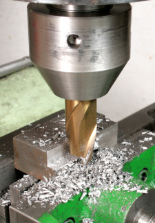 Milling cutter chuck for threaded shank end mills, shop made. Being Used