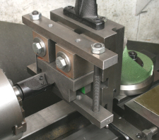Vertical Slide, machining a small vee block