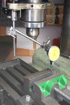 Dial Test Indicator, positioning milling vice