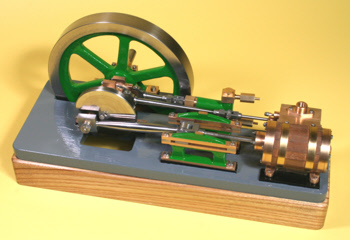 Stationary steam engine made using a lathe mounted milling head