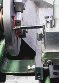 Saddle Stop, lathe