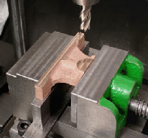 milling head for the lathe, using