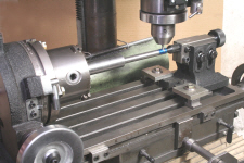 Rotary Table, being used with a tailstock