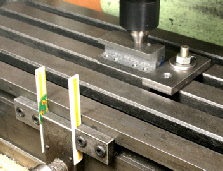 Milling machine stops, X axis