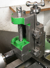 Milling on the lathe, vertical slide, Toolmakers style vice