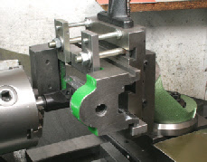 Milling on the lathe, vertical slide