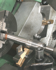 Fixed Steady, a hinged top permits workpieces to be easily removed and replaced