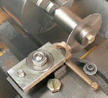 Slitting saw. On the lathe