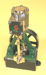 Stuart 10V steam engine.