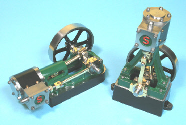Stuart 10H steam engine, Stuart 10V steam engine.